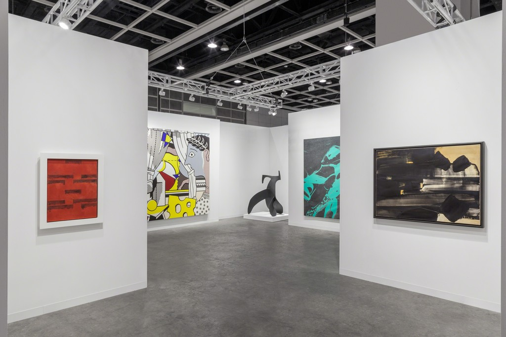 Installation view of Lévy Gorvy's booth at Art Basel Hong Kong 2017. Photo by Sebastiano Pellion di Persano.