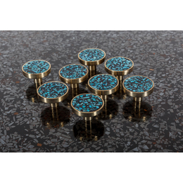 Set of eight knobs