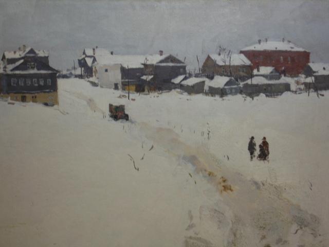Boris Mikhaylovich Lavrenko, 'Snow on brown houses', Undated, Surikov Foundation