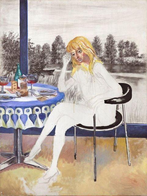 , 'Joven sentada,' 1980, Galeria Sur