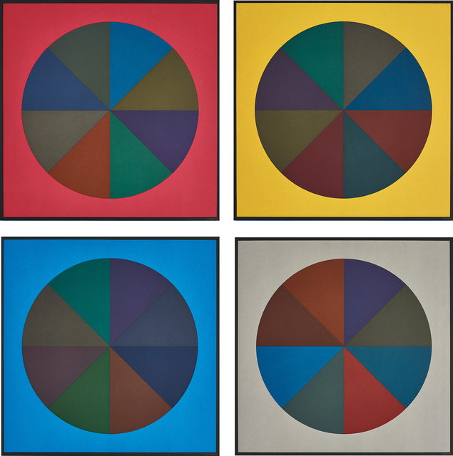 Sol LeWitt, 'Circles Divided into Eight Equal Parts with Colors Superimposed in Each Part', 1989, Phillips