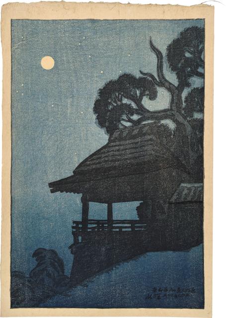Itō Shinsui, 'Eight Views of Omi: Ishiyamadera Temple', 1917, Scholten Japanese Art