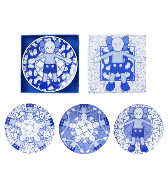 KAWS, 'KAWS: HOLIDAY Ceramic Plate Set (Blue/White) (Set of 4)', 2019, Curator Style