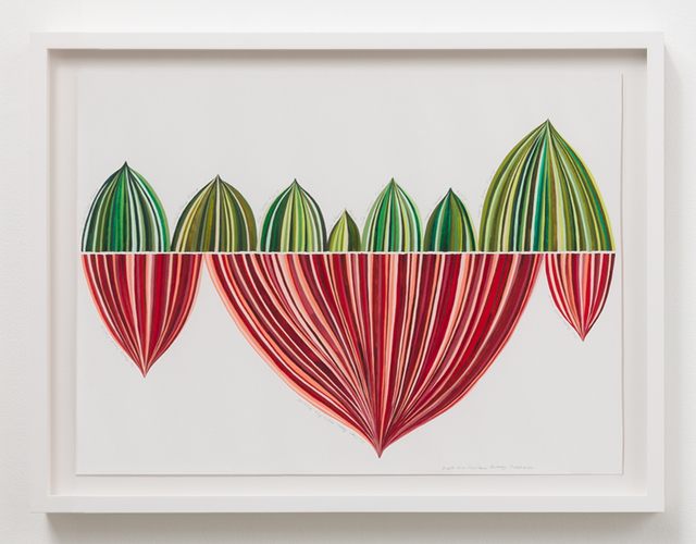 , 'Red and Green Stripe Panel: Puerto Rico Hurricane Recovery Fundraiser,' 2018, Luis De Jesus Los Angeles