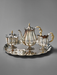 Tea service, model no. S se 8, comprising model nos. S 5369 - S se 8-1, S 5370 - S se 8-2, S 5371 - S se 8-3, S 5372 - S se 8-4, S 5373 - S se 8-5