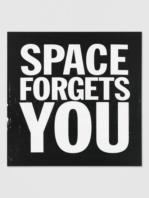 , 'SPACE FORGETS YOU,' 2012, Galerie Eva Presenhuber