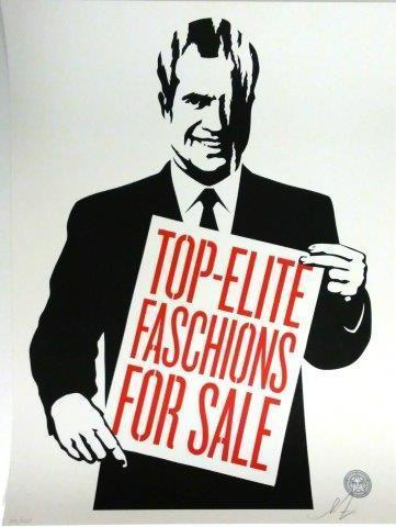 Shepard Fairey, 'Top Elite Faschions For Sale', 2011, DIGARD AUCTION