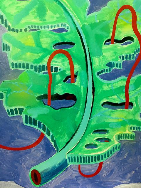 , 'Leaf Artery,' 2016, Evelyn Yard