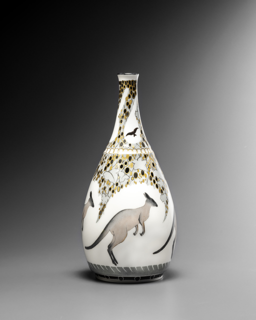 """, '""""Kangaroos"""" Vase,' 1922, Galerie Didier Luttenbacher"""