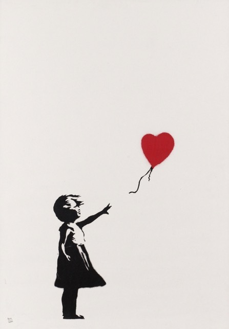 Banksy, 'Girl with Balloon signed', 2004, Lionel Gallery