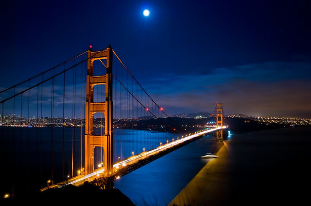, 'Blue Moon at the Golden Gate,' , ArtStar
