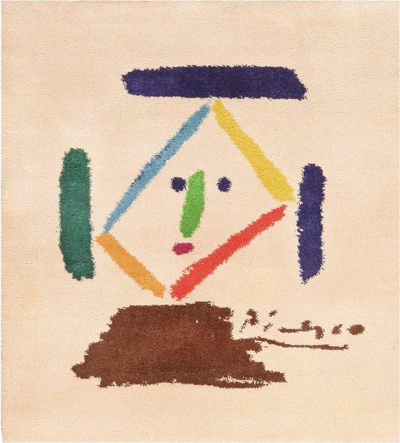 Pablo Picasso, 'Square Vintage Picasso Art Rug', Mid 20th Century, Nazmiyal Collection