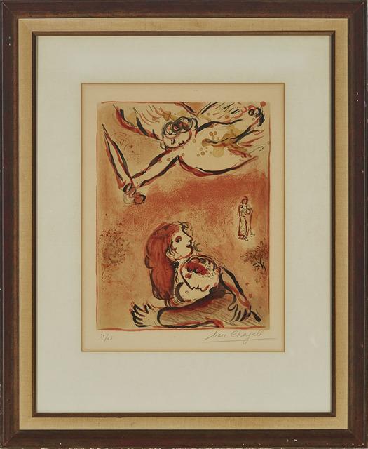 Marc Chagall, 'Le Visage D'Israel (From Dessins Pour La Bible)', 1960, Print, Colour lithograph on Arches wove paper, Waddington's