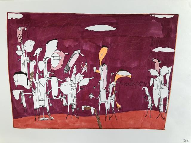 , 'Pandilla 1,' 2018, Allouche Gallery