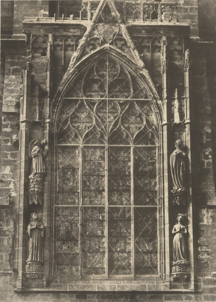 Henri Le Secq, 'Chartres Cathedral,' Negative 1852; print 1870s, J. Paul Getty Museum
