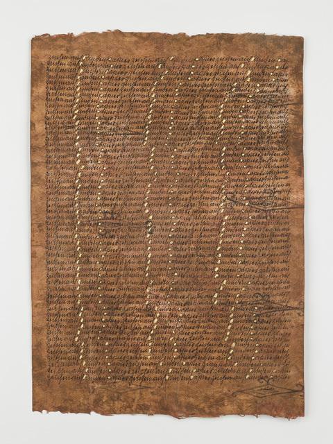 , 'Segni su carta corteccia (Signs of paper bark),' 1985, Richard Saltoun
