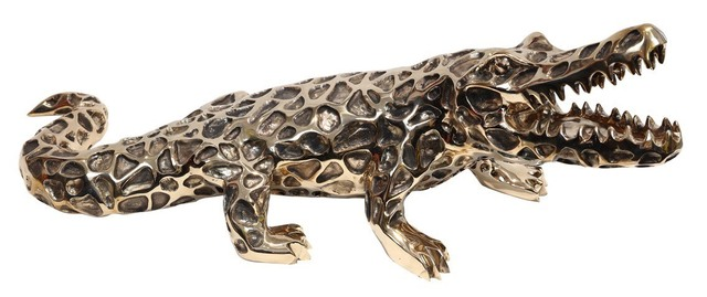 Richard Orlinski, 'Bronze Lace Crocodile', 2006, Sculpture, Bronze, ArtLife Gallery