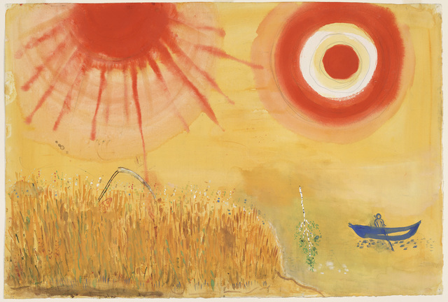 Marc Chagall, 'A Wheatfield on a Summer's Afternoon. Study for backdrop for Scene III of the ballet Aleko,' 1942, Dallas Museum of Art