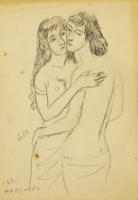 Marie Vorobieff Marevna, 'David embracing a woman', 1969, Roseberys