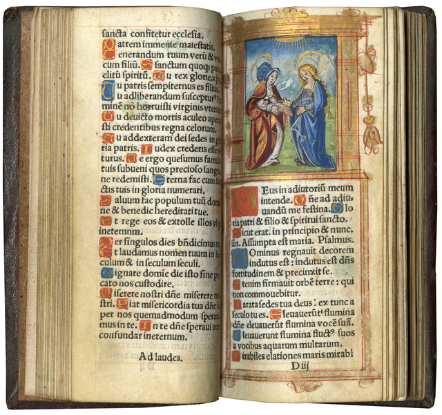 , 'Printed Book of Hours (Use of Rome),' c. 1536 (almanac for 1536-1548), Les Enluminures