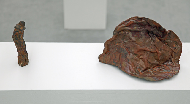 Jürgen Brodwolf, 'Figur vor Felskopf', 2005, Sculpture, Iron, Henze & Ketterer & Triebold