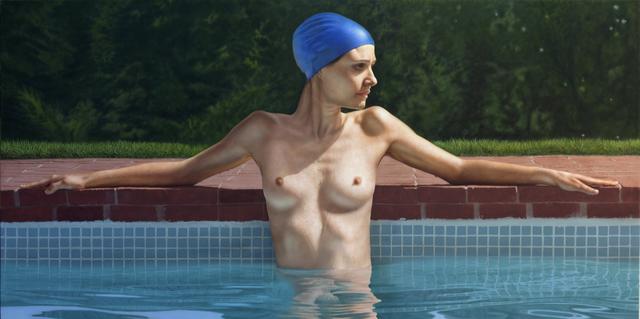 , 'Sandra in the Pool,' 2014, Louis K. Meisel Gallery