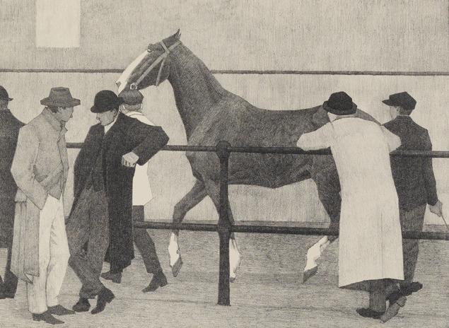 , 'Horse Dealers (Ward's Repository No 1),' 1919, The Fine Art Society