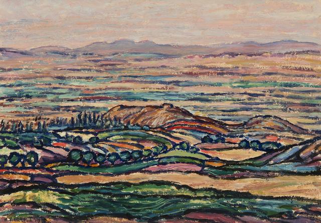 Harold Weston, 'Golden Palace of Darius, Hamadan', 1919, Painting, Oil on board, Gerald Peters Gallery