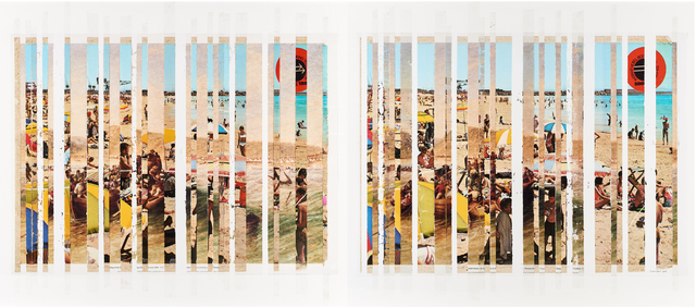 , 'Sticky-tape Transfer 31 - Port Elizabeth Beach 1820 or 1970 (After Baines or Photographer Unknown),' 2017, Goodman Gallery
