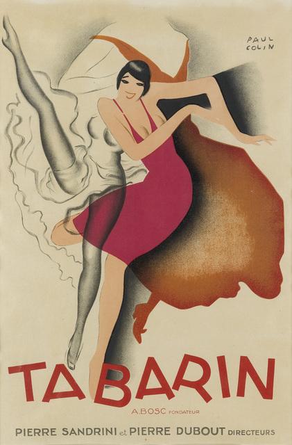 PAUL COLIN, 'TABARIN', 1928, Swann Auction Galleries
