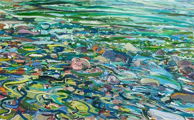 Lilian Garcia-Roig, 'Cumulative Nature: Heightened Rapids', 2019, Painting, Oil on canvas, Valley House Gallery & Sculpture Garden