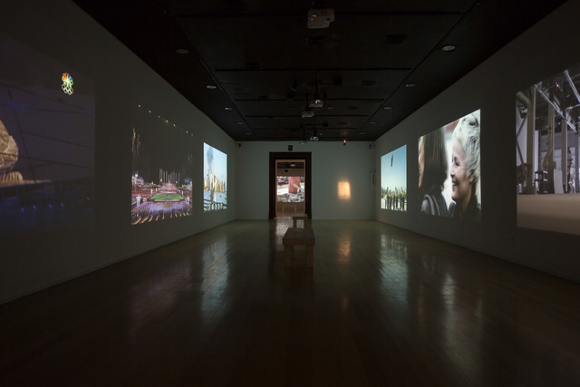 , 'Installation view of videos shown for Cai Guo-Qiang: Da Vincis do Povo, Centro Cultural Banco do Brasil, Rio de Janeiro,' 2013, Cai Studio