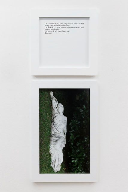 , 'Today my mother died,' 2013, Perrotin