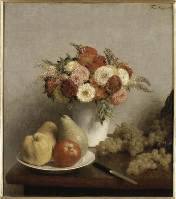 , 'Fleurs et fruits,' 1865, Musée du Luxembourg