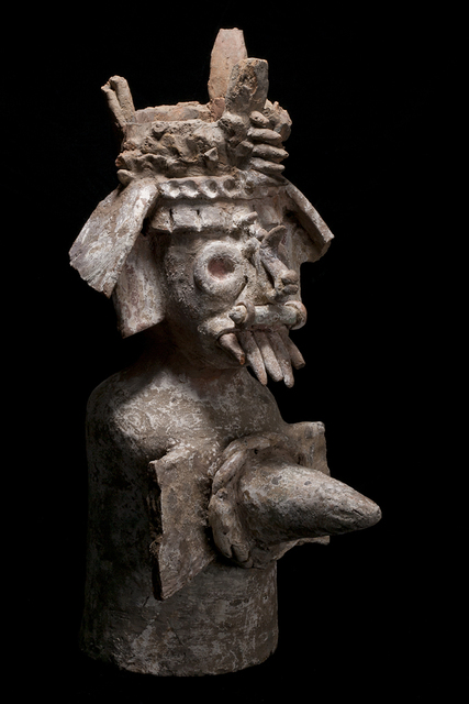 Unknown Pre-Columbian, 'Aztec Tlaloc Deity Incensario', 1200-1400, Muzeion Gallery