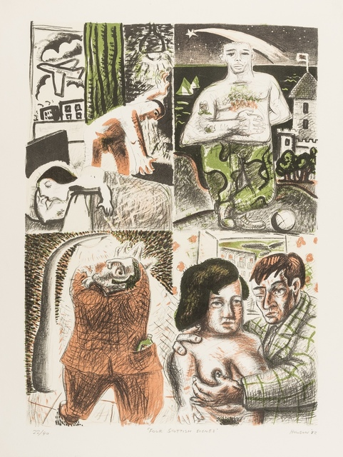 Peter Howson, 'Four Scottish Scenes', 1982, Print, Lithographs printed in colours, Forum Auctions