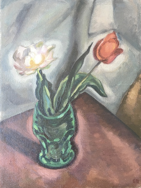 , 'Still Life With Tulips,' Mid-20th century, Bakker Gallery