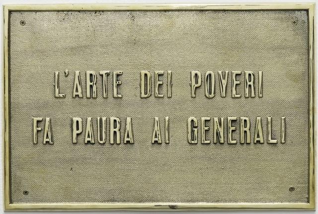 , 'A arte dos pobres assusta os generais [The art of the poors scare the generals],' 2015, Casa Triângulo