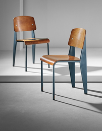 "Jean Prouvé, 'Pair of ""Semi-metal"" chairs, model no. 305,' ca. 1950, Phillips: 20th Century & Contemporary Art & Design Evening Sale"