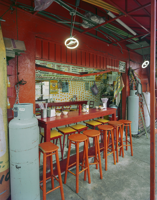 , 'Counter at Tacos La China, Santa Maria, Puebla, Puebla State, Mexico,' 2011, Robert Klein Gallery