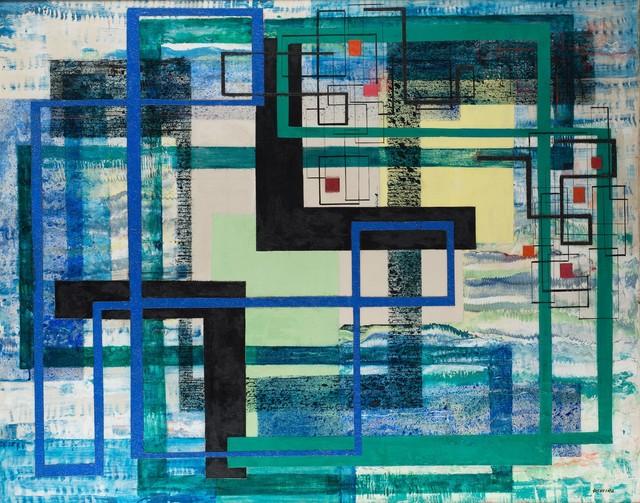 , 'Seven Red Squares ,' 1951, Weinstein Gallery