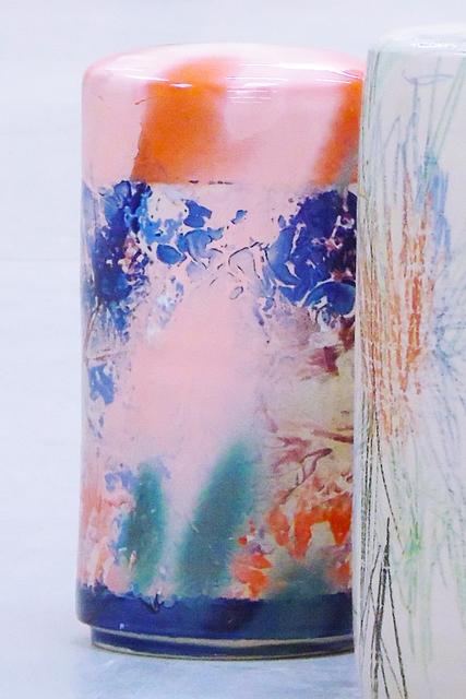 , 'column small - rose/orange,' 2018, Galerie Judith Andreae