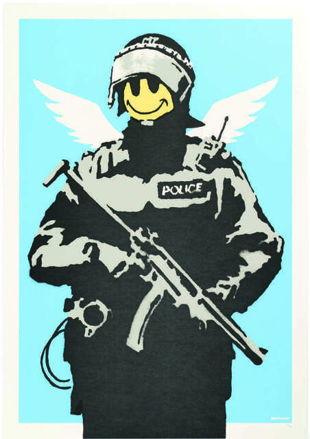 Banksy, 'Flying copper', 2004, Digard Auction