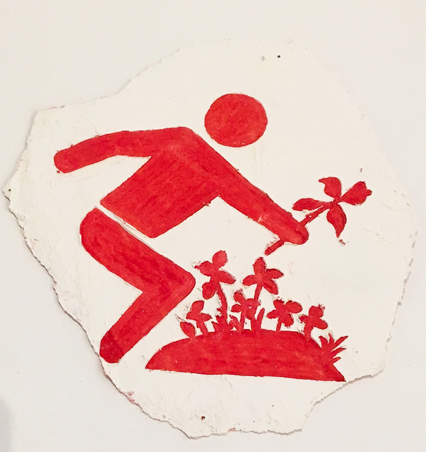 , 'Man Picking Flowers,' 2015, Galerie Sabine Knust