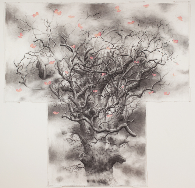 , 'Tree #5 (butterflies),' 2013, Nancy Hoffman Gallery