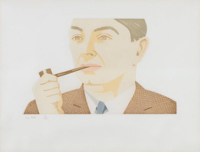 Alex Katz, 'Man With Pipe (S. 181)', 1984, Doyle