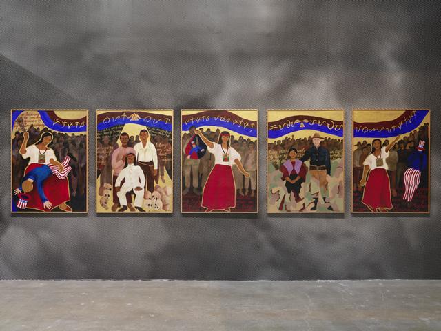 Brenda Fajardo, 'Crossroads', 2003, Painting, Acrylic on canvas, Gwangju Biennale