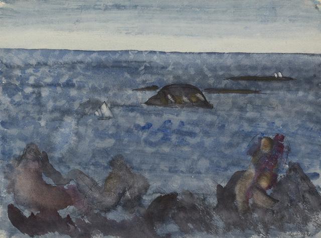 John Marin, 'Sea Fantasy, Maine', 1937, Menconi+Schoelkopf