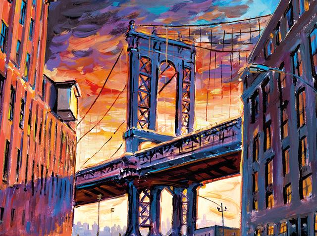 , 'Manhattan Bridge, Downtown New York,' 2017, Castle Fine Art
