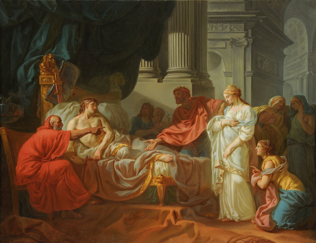 Jacques-Louis David, 'Erasistratus Discovers the Cause of Antiochus's Disease ', 1774, American Federation of Arts
